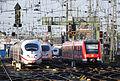 620 512 + 3 x ICE 3 Köln Hauptbahnhof 2015-12-17.JPG