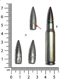 7.62×51mm NATO Rimless, centerfire, bottlenecked rifle cartridge