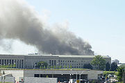 Smoke billows from the Pentagon after a highjacked commercial jetliner crashed into the building September 11, 2001.