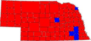 United States Senate election in Nebraska, 1996 - Image: 96NESenate Counties