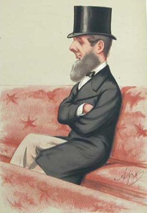 Francis Russell, 9th Duke of Bedford - The Duke of Bedford in the House of Lords, by Carlo Pellegrini, 1874