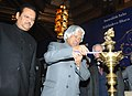 A.P.J. Abdul Kalam lighting the lamp at the All India workshop on Campaign Clean India to create awareness about hygiene and cleanliness at tourist destinations and monuments, organized by the Ministry of Tourism.jpg