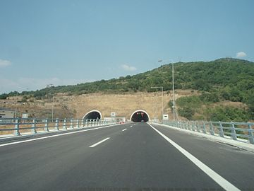 A2 Motorway, Greece - Section Ioannina-Driskos - Driskos-Tunnel, southern entry - 03.jpg