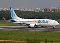 A6-FDD Boeing 737-800 Flydubai Lined Up for Take Off (8305312353).jpg