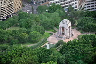 Hyde Park, Sydney - ANZAC War Memorial.
