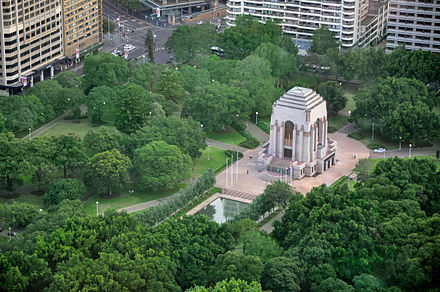 The Anzac War Memorial in Hyde Park is a public memorial dedicated to the achievement of the Australian Imperial Force of World War I. ANZAC War Memorial, Hyde Park, Sydney.jpg