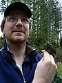 A Biologist and his bird (2459196927).jpg