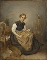 A Girl Carding (Kilian Zoll) - Nationalmuseum - 20430.tif