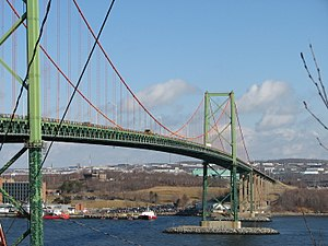 A. Murray MacKay Bridge - The MacKay Bridge as seen from Halifax.