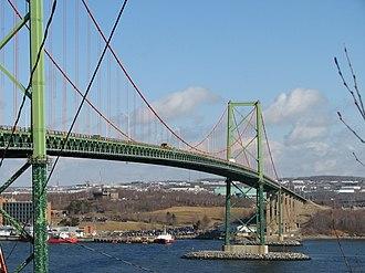A. Murray MacKay Bridge - The MacKay Bridge as seen from Halifax.