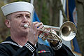 A U.S. Sailor with the Fleet Forces Band plays taps during a Pearl Harbor 71st anniversary remembrance ceremony at Joint Expeditionary Base Little Creek-Fort Story, Va 121207-N-XY604-239.jpg