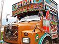 A decorated truck, Bhutan.JPG