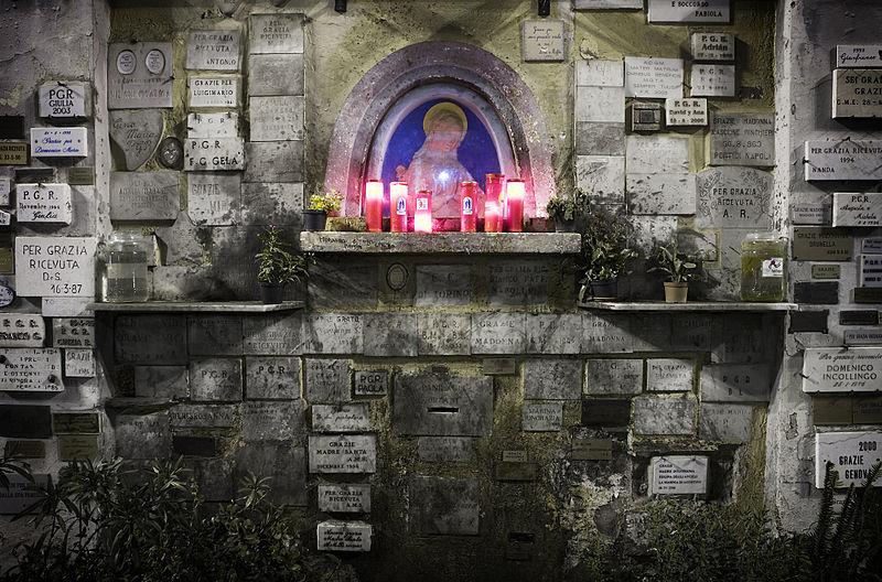 Autel à la Sainte Marie dans le quartier de Trastevere à Rome - Photo de Jorge Royan