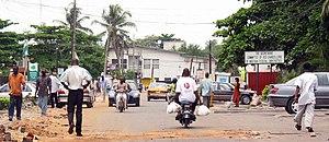 A street in Lagos, Nigeria