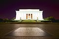 A wide night shot of Lincoln Memorial in January of 2013.jpg