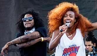 SZA (singer) - SZA performing in 2015 with label mate Ab-Soul