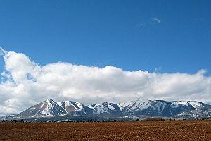 Abajo Mountains - Abajo Mountains near Monticello