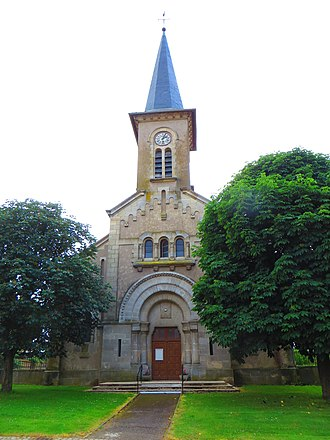 Abaucourt - The church in Abaucourt