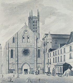 ŒUVRES CHRÉTIENNES DES FAMILLES ROYALES DE FRANCE - (Images et Musique)- année 1870  280px-Abbaye_de_sainte_genevieve