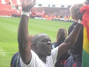 Abdoulaye Faye - Faye celebrating Stoke's survival in 2009