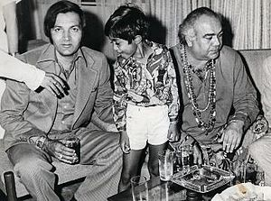 Prem Nath - Image: Abhishek with actors Prem Chopra and Premnath 1974