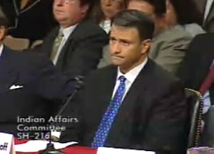 Abramoff testifying before the Senate Indian A...