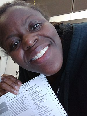 Ballot selfie - Example of a ballot selfie from the 2016 United States elections