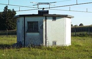 Helix building Building at a longwave or mediumwave radio transmitter