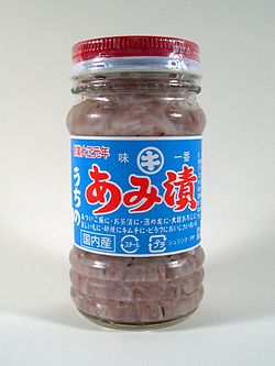 Acetes japonicus 01 bottle from Japan.JPG