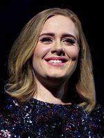 Photo of Adele in 2016.