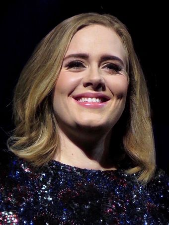 Two-time nominee, including one-time award winner Adele Adele 2016.jpg