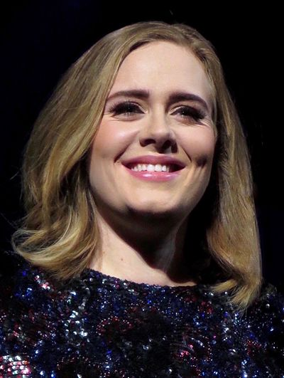 Adele has received the award three times. Also, she was the first recipient. Adele 2016.jpg
