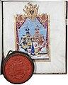 Adelsdiplom - Rosenthal 1771 - Wappen.jpg