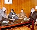Adolfo Suárez se entrevista con el presidente de la Generalitat de Cataluña, Josep Tarradellas.jpeg