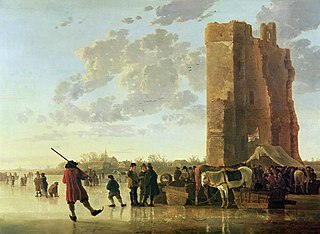 Ice Scene before the Huis te Merwede near Dordrecht