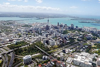 Auckland CBD - Aerial view of the CBD.
