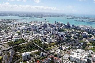 Auckland CBD - Aerial view of the CBD.