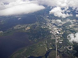 Aerial view of Oldsmar from the east
