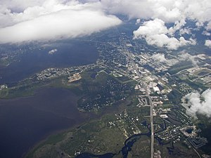 Oldsmar, Florida - Aerial view of Oldsmar from the east