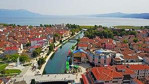 Struga - Aerial view of Struga