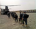 Afghan Uniform Police officers line up to load onto CH-47 Chinook helicopters in the Ghazni province of Afghanistan before an air assault in support of Operation Shamshir Aug. 3, 2010 100803-A-TW583-001.jpg
