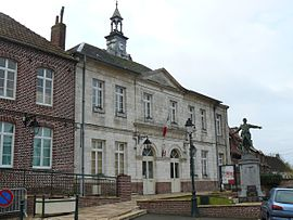 The town hall of Agny