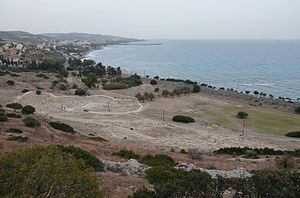 Agora and lower city from the Acropolis, Amathous, Cyprus.jpg