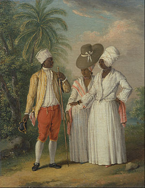 Free people of color - Free West Indian Dominicans, c. 1770