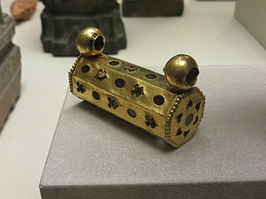 Ahin Posh - Gold amulet found in the ruins of the monastery and now in the British Museum.