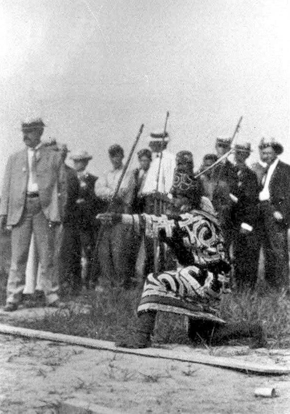 Ainu archery - anthropological day - 1904 olympics