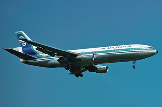 Air New Zealand Flight 901 - ZK-NZP, the aircraft involved in the accident, photographed in 1977