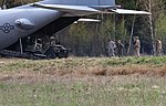 Airmen from the 321st Special Tactics Squadron out of Royal Air Force Mildenhall, England, and Soldiers from the 173rd Airborne Brigade out of Vicenza, Italy, conduct fast-paced landing and takeoff maneuvers during Saber Junction 16 (26301931400).jpg