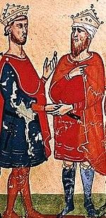 Federico II negocia con Al-Kamil.