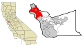 Alameda County California Incorporated and Unincorporated areas Oakland Highlighted.svg
